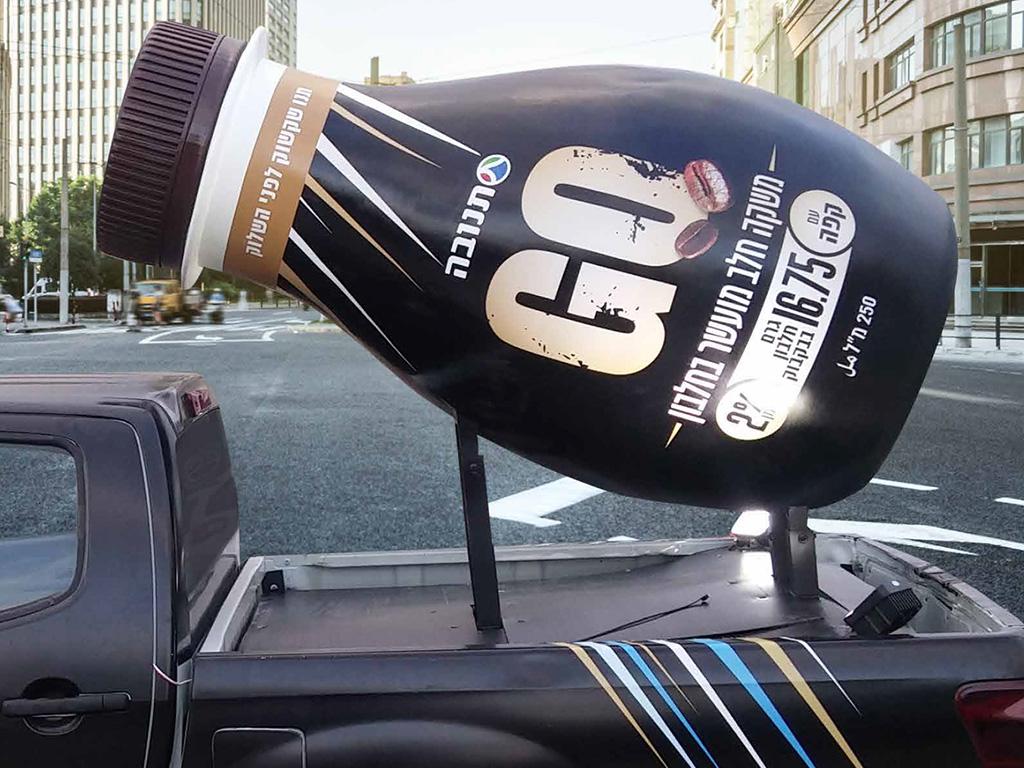 Flasche-auf-Truck